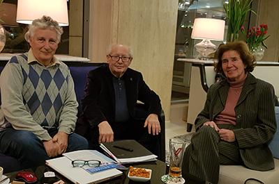 Jean-Pierre Strosweis avec Serge et Beate Klarsfeld